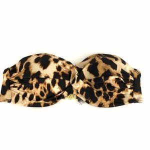 Victoria's Secret Strapless Leopard Bikini Top